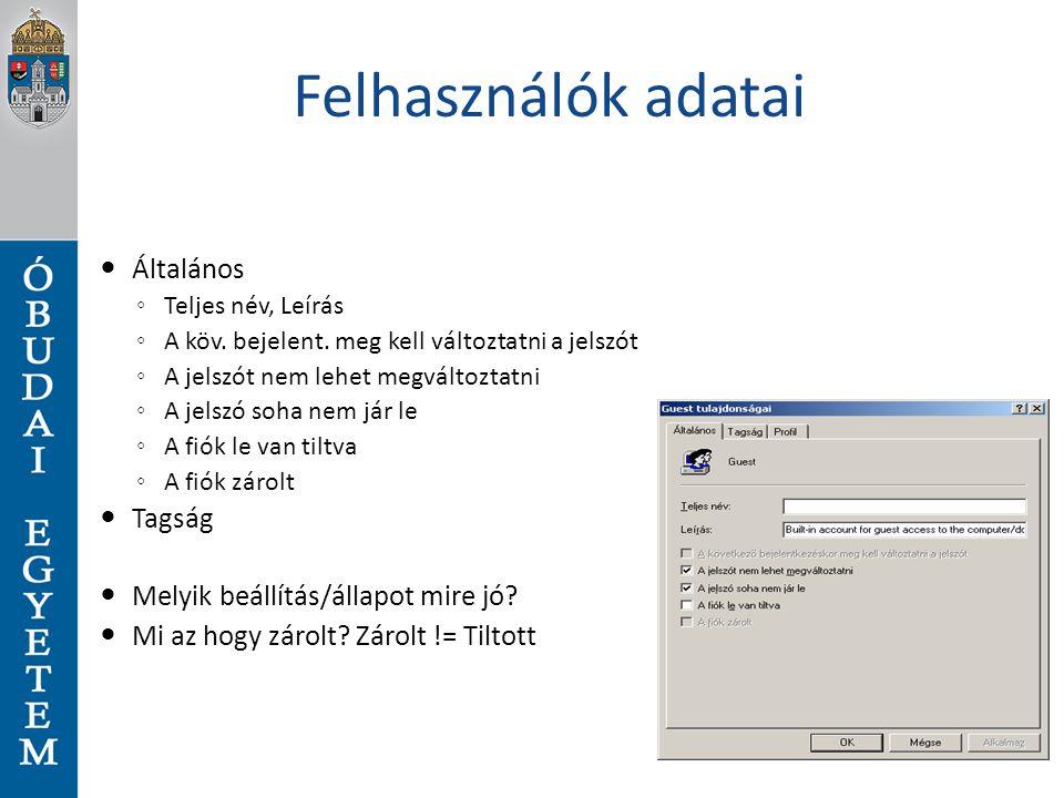 Külső programok is vezérelhetőek Microsoft alkalmazások mindegyike fog PS támogatással rendelkezni pl: MS SQL szerver kezelése távolról - új adatbázis létrehozása Set-Location SQLSERVER:\SQL\localhost\DEFAULT\Databases $MyDBVar = New-Object Microsoft.SqlServer.Management.SMO.Database $MyDBVar.Parent = (Get-Item..) $MyDBVar.Name = NewDB $MyDBVar.Create() $MyDBVar.State