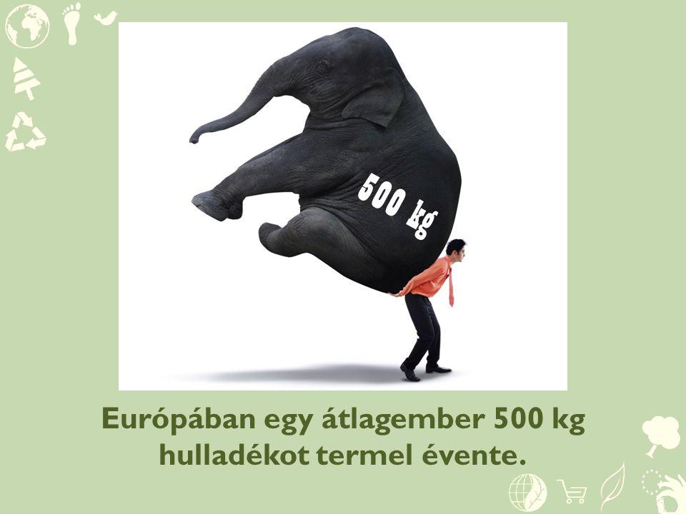 Európában egy átlagember 500 kg hulladékot termel évente. 500 kg