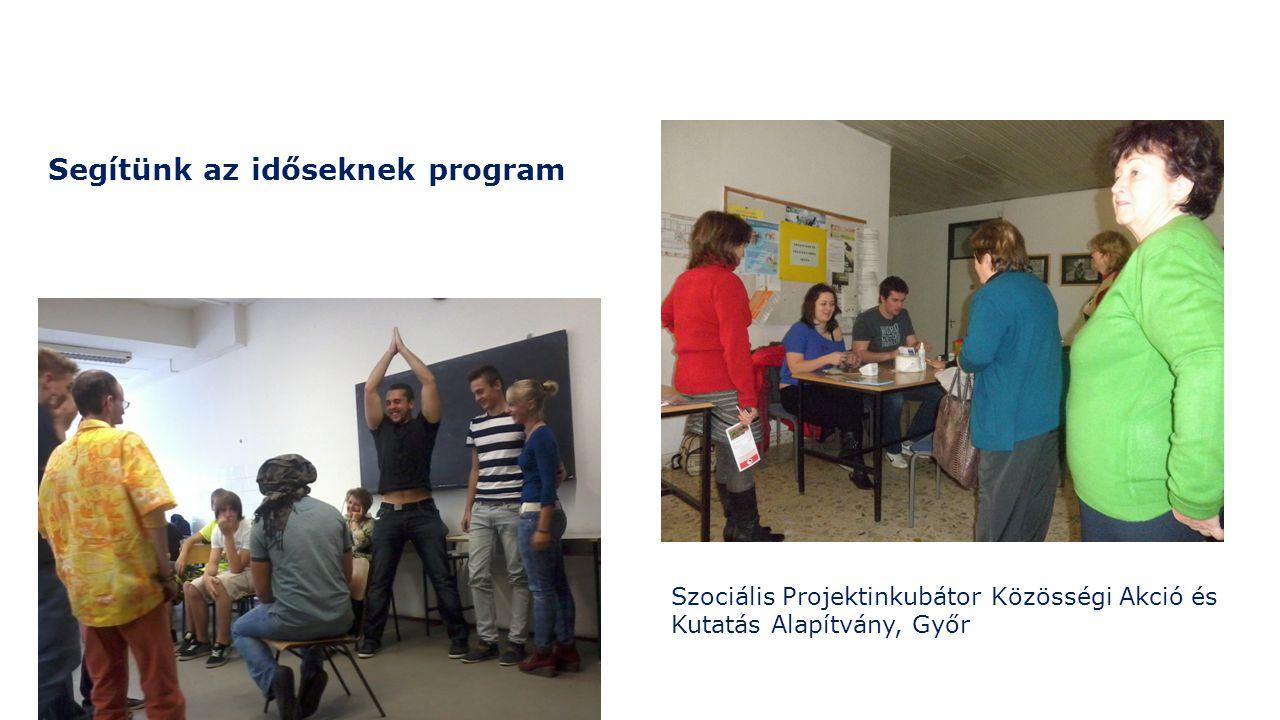 Segítünk az időseknek program Szociális Projektinkubátor Közösségi Akció és Kutatás Alapítvány, Győr