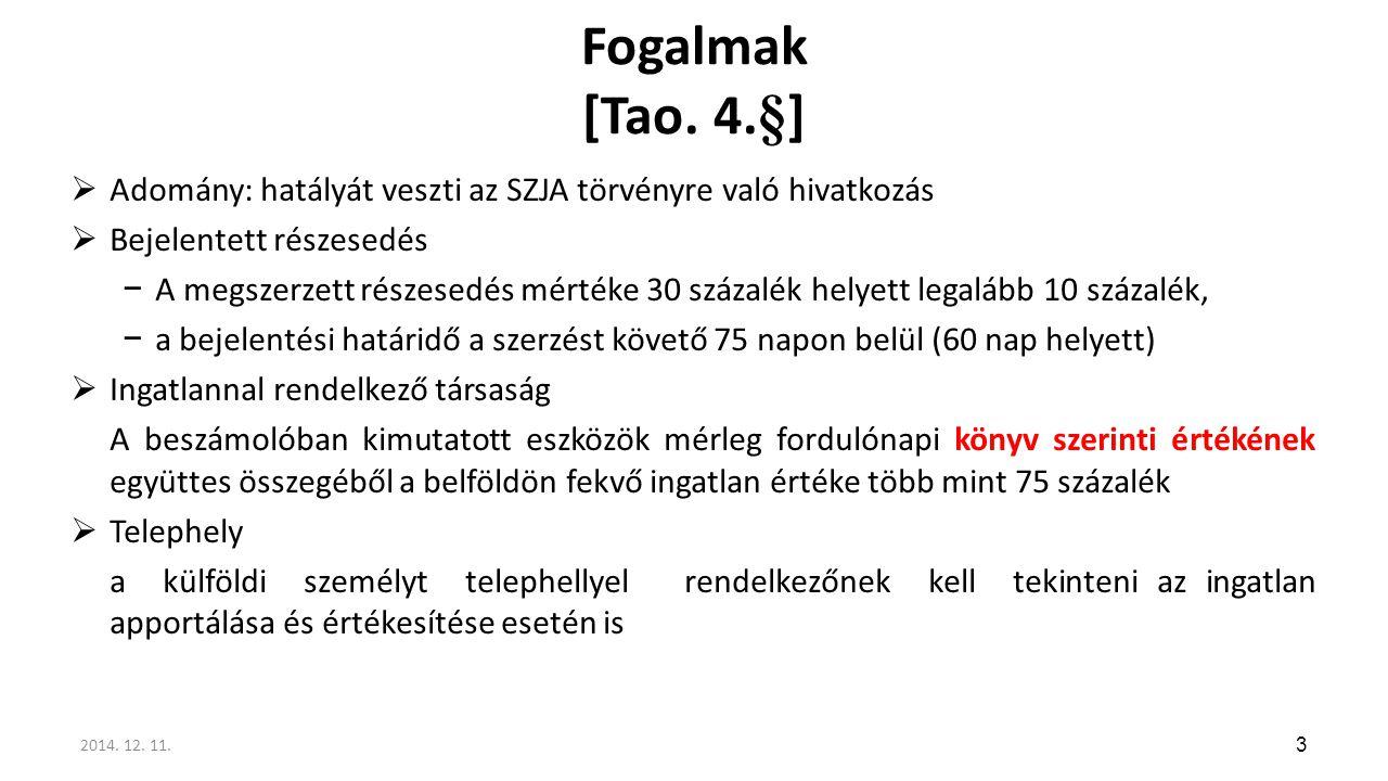 Fordított adózás (142.§ (1) bek. i) és (8)bek.)  A 6/A.