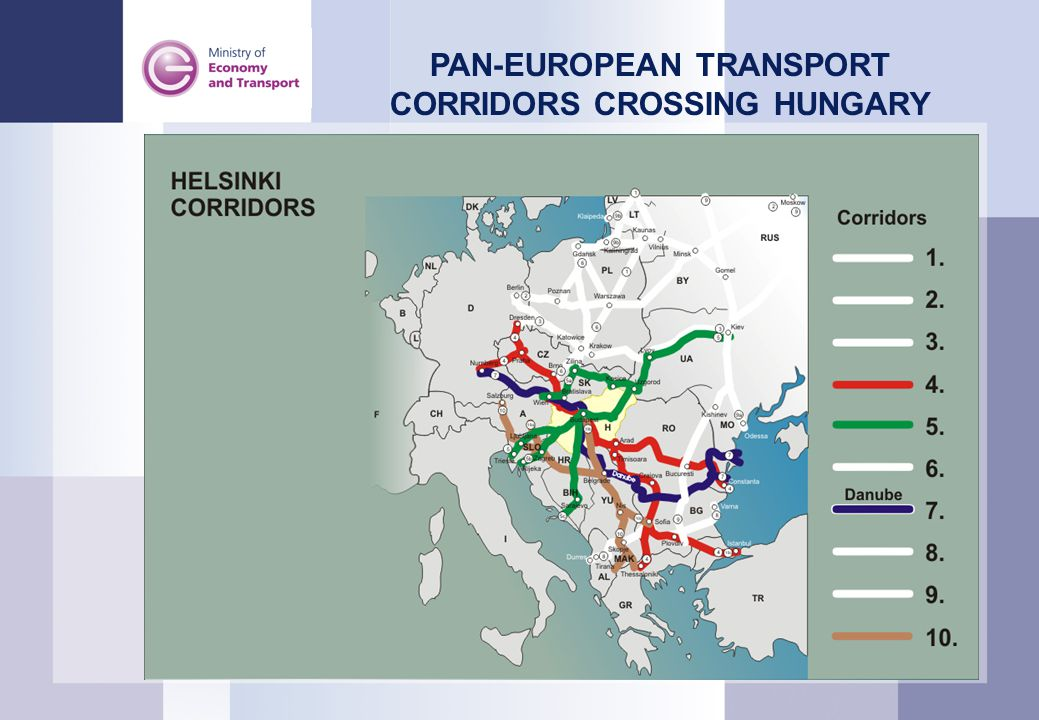 2 PAN-EUROPEAN TRANSPORT CORRIDORS CROSSING HUNGARY