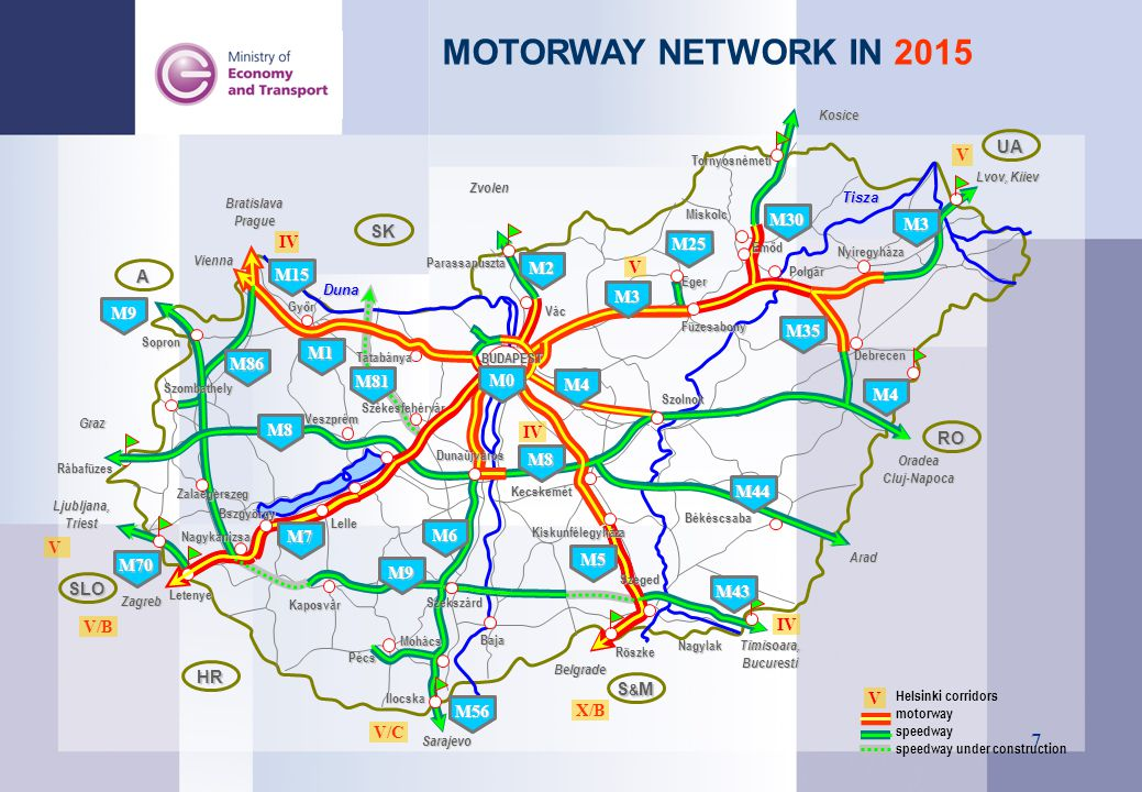 8 Availability of motorway network in 2003, 2006, 2015 (isochrones from 15 and 30 min.) An impact to be measured on the area and economy development The increase of the inhabitants living on the territories affected directly or indirectly by the motorways The more dynamic reduction of the average unemployment rate The workplace creating impact Personal revenues with a value of 20 % higher than before in the area affected Higher relative complex development indicators The promoting effect of the development of the expressway network exerted on the economy