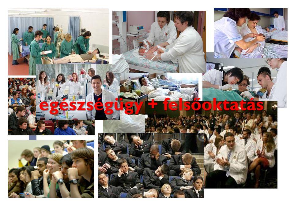 egészségügy + felsőoktatás
