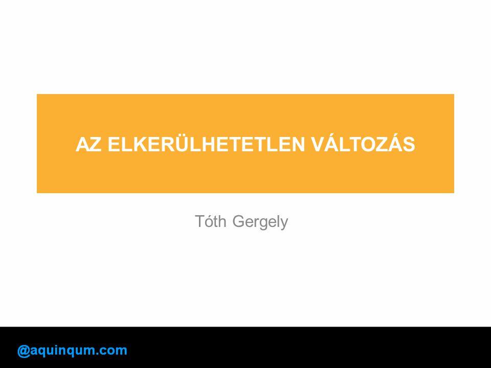 AZ ELKERÜLHETETLEN VÁLTOZÁS Tóth Gergely