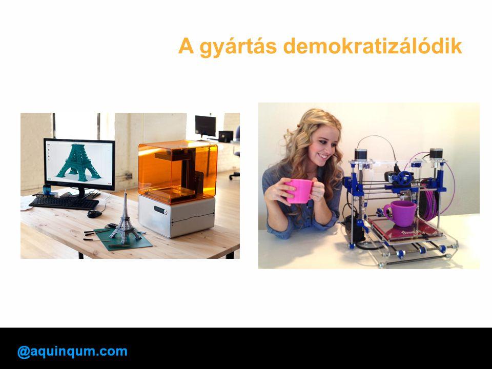 A gyártás demokratizálódik