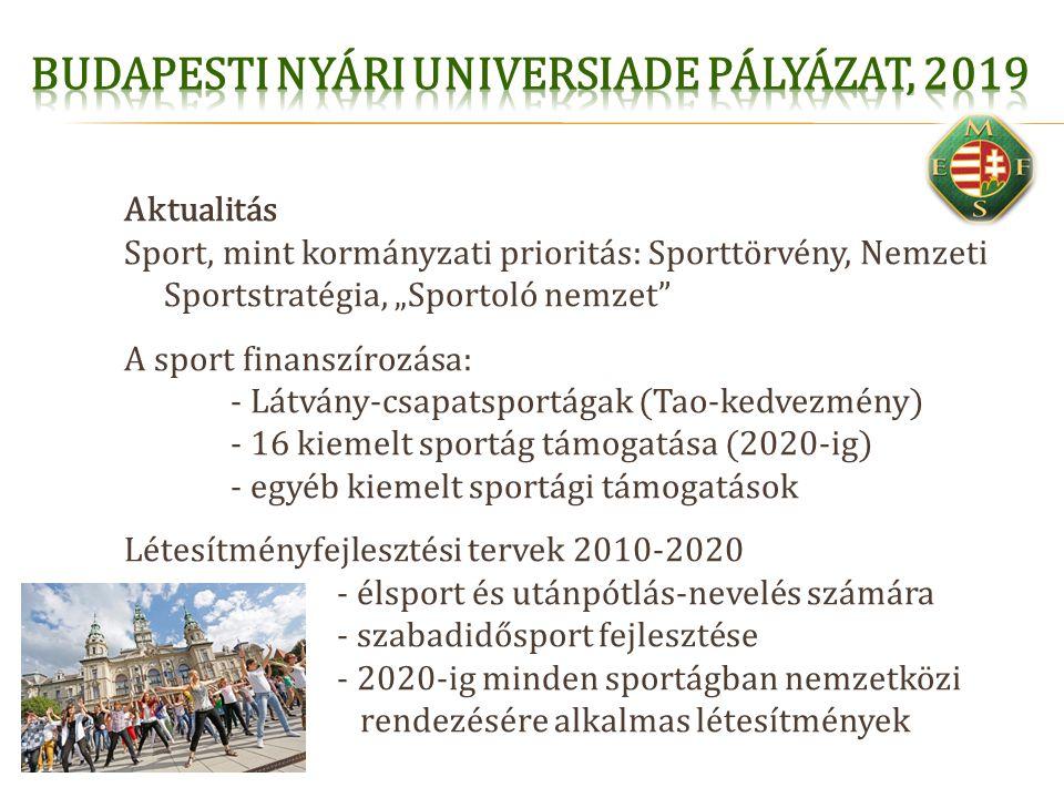 """Aktualitás Sport, mint kormányzati prioritás: Sporttörvény, Nemzeti Sportstratégia, """"Sportoló nemzet"""" A sport finanszírozása: - Látvány-csapatsportága"""