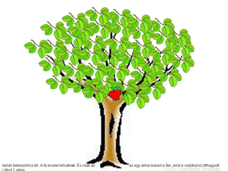 Ismét beköszönt a tél. A fa levelei lehullnak. És csak az az egy alma marad a fán, amit a vaddisznó otthagyott. Látod 1 alma. Cri Du Chat Baráti Társa