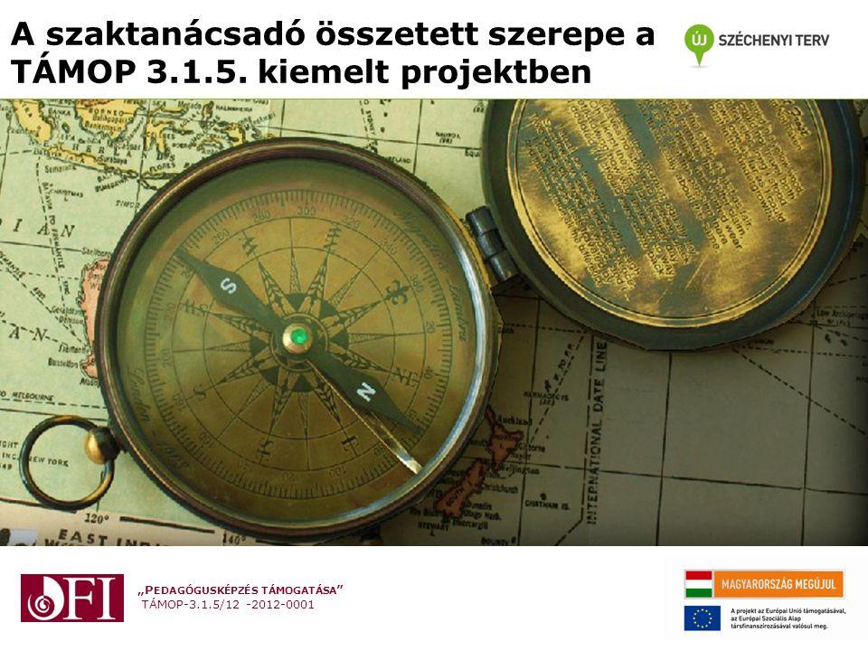 """""""P EDAGÓGUSKÉPZÉS TÁMOGATÁSA TÁMOP-3.1.5/12 -2012-0001 A szaktanácsadó összetett szerepe a TÁMOP 3.1.5."""