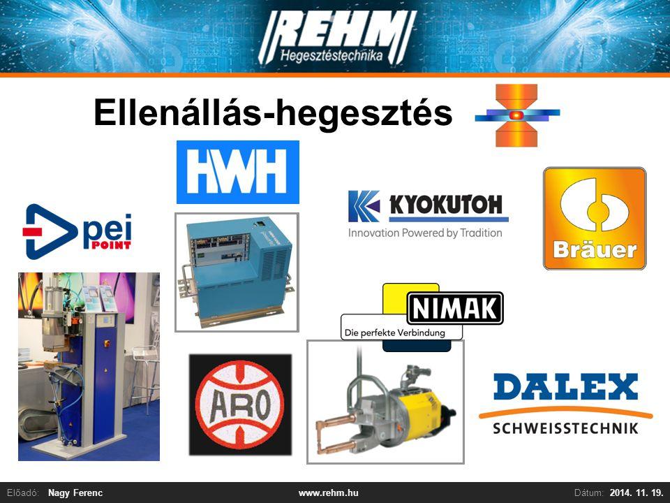 Előadó:Nagy FerencDátum:2014. 11. 19.www.rehm.hu Ellenállás-hegesztés