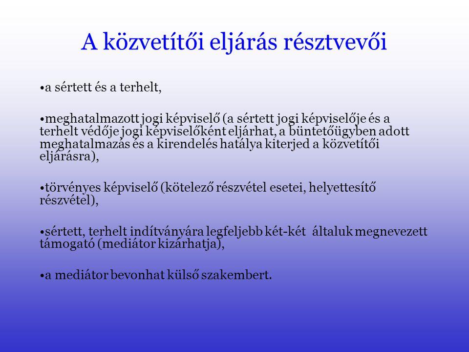 Tevékeny megbánás 2006. évi LI. tv. Módosította a Btk.-t – 2007.01.01-től 36. § A sikeres mediáció: 1.Büntethetőséget megszüntető ok: -Felnőtt korúakn