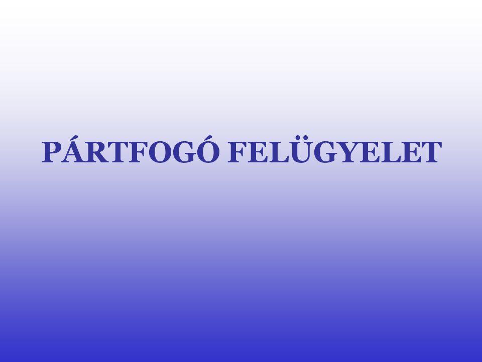 PÁRTFOGÓ FELÜGYELET