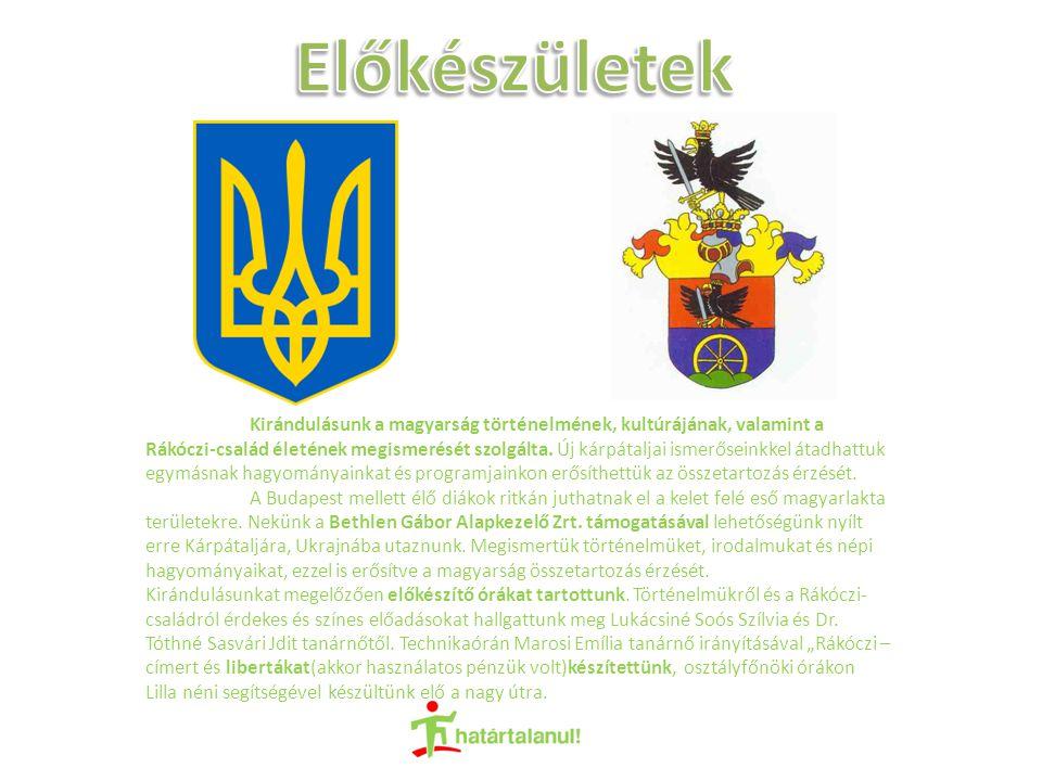 Kirándulásunk a magyarság történelmének, kultúrájának, valamint a Rákóczi-család életének megismerését szolgálta.