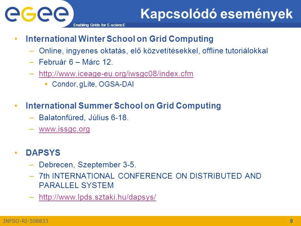 INFSO-RI-508833 Enabling Grids for E-sciencE www.eu-egee.org Viszlát......