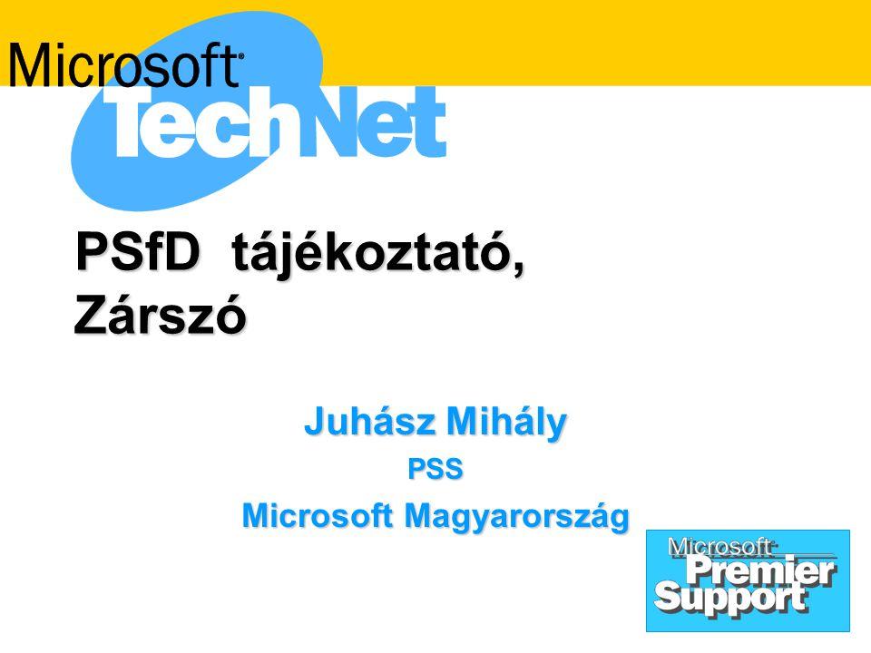 PSfD tájékoztató, Zárszó Juhász Mihály PSS Microsoft Magyarország