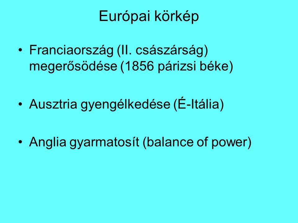 Előzmény Német Szövetség (Deutscher Bund) 1815-1866 német nyelvű államok szövetsége (1806) Német Római Császárság utódja Ausztria és Poroszország is tagja volt 35 állam