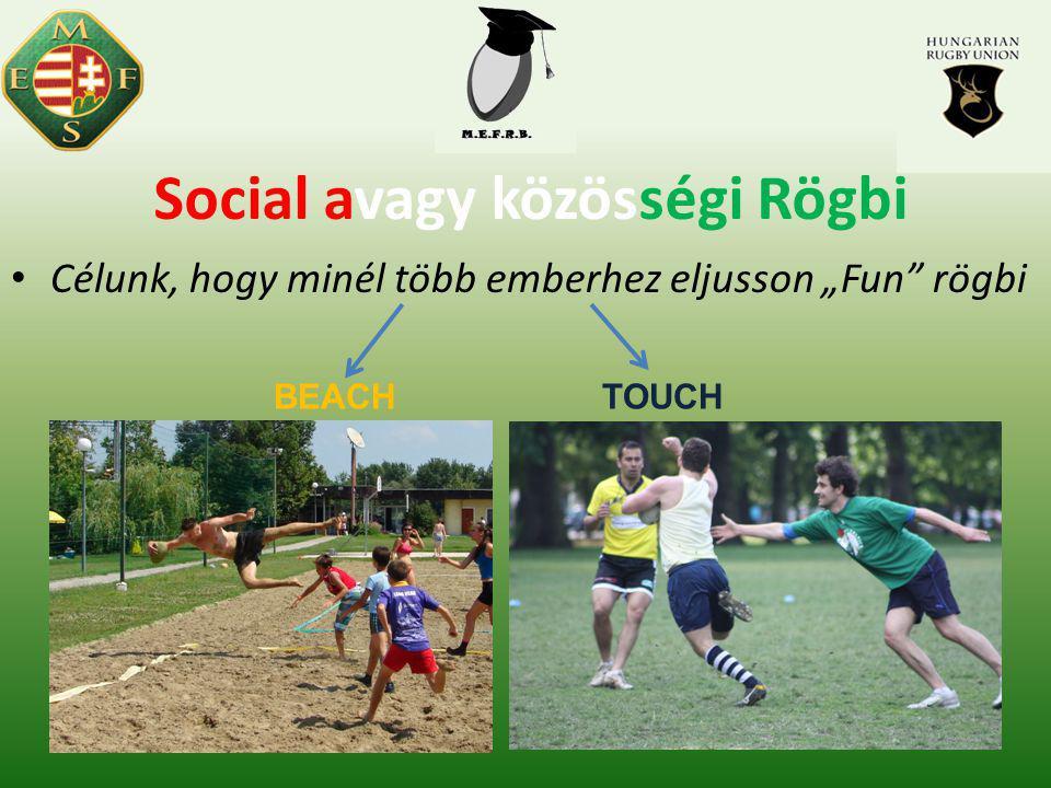 """Social avagy közösségi Rögbi Célunk, hogy minél több emberhez eljusson """"Fun rögbi BEACHTOUCH"""