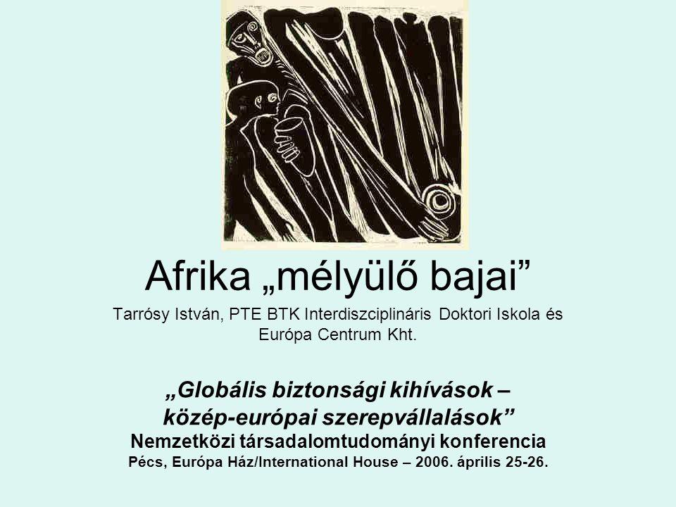 """""""Globális biztonsági kihívások – közép-európai szerepvállalások Nemzetközi társadalomtudományi konferencia Pécs, Európa Ház/International House – 2006."""