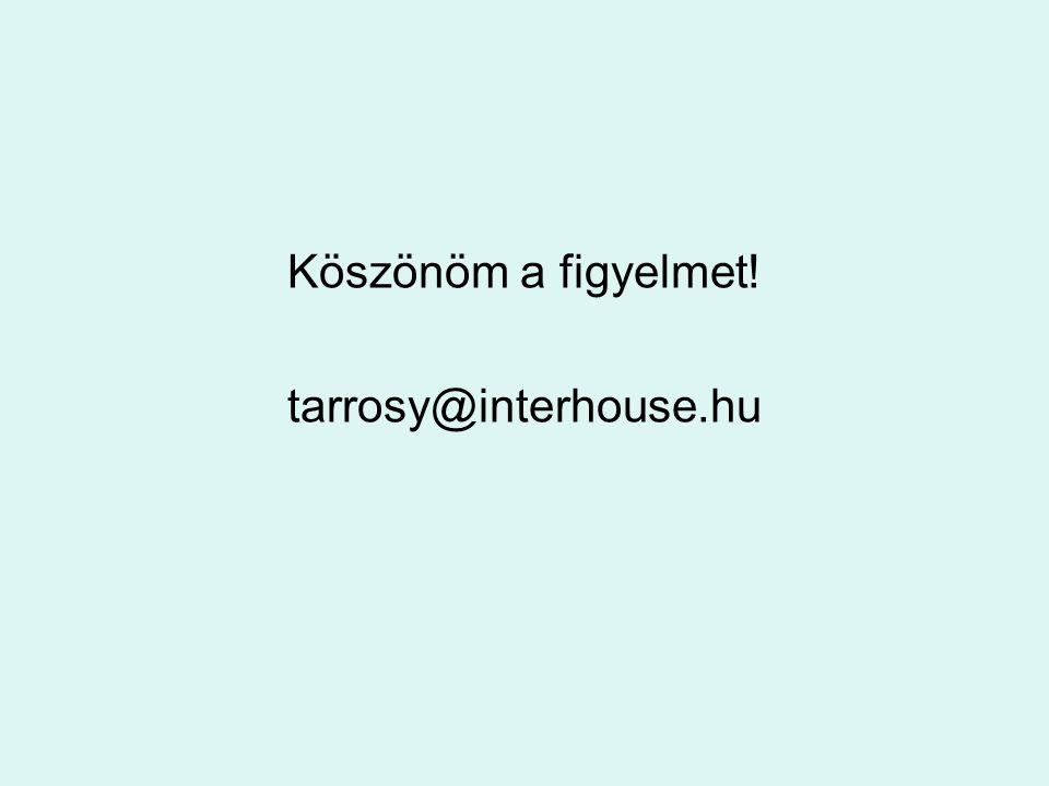 Köszönöm a figyelmet! tarrosy@interhouse.hu