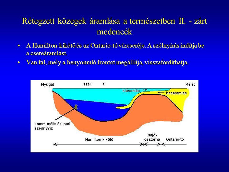 A kísérleti elrendezés A bal oldali kádrész két sósvíz réteget tartalmaz, jobb oldalon édesvíz.
