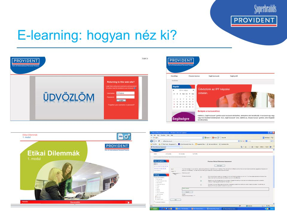 www.ipfin.co.uk E-learning: hogyan néz ki?