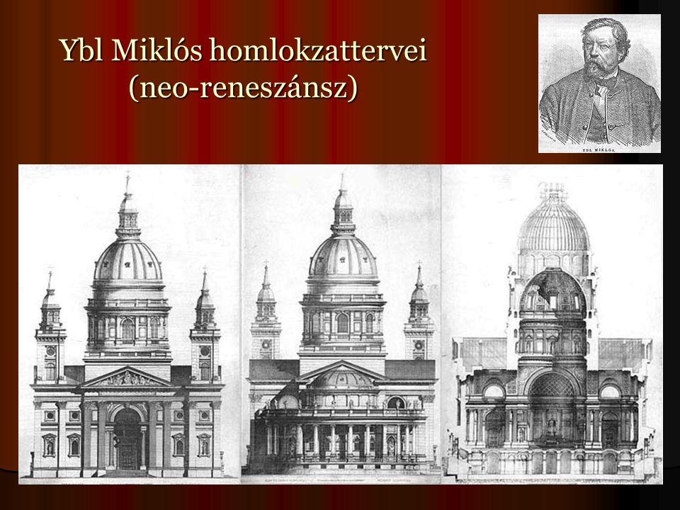 Ybl Miklós homlokzattervei (neo-reneszánsz)