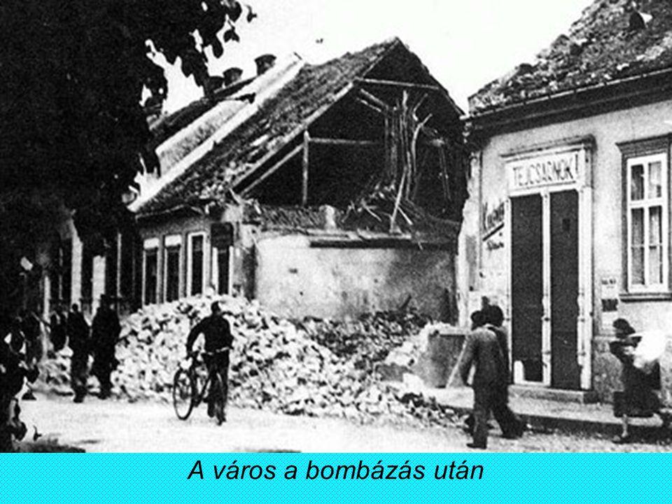 A város a bombázás után
