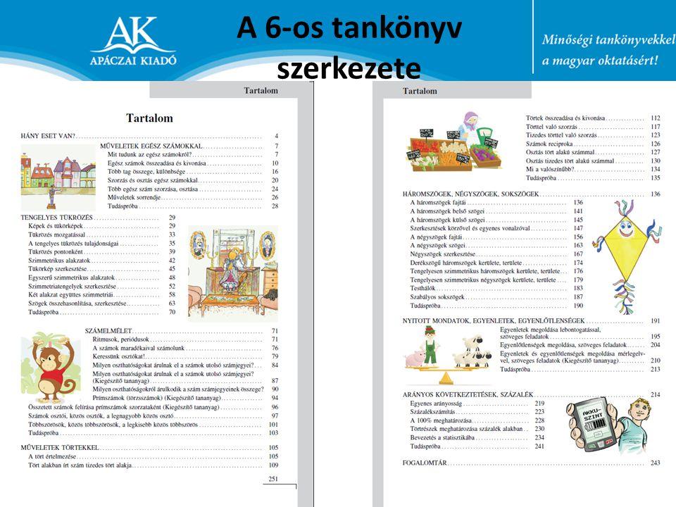 A 6-os tankönyv szerkezete
