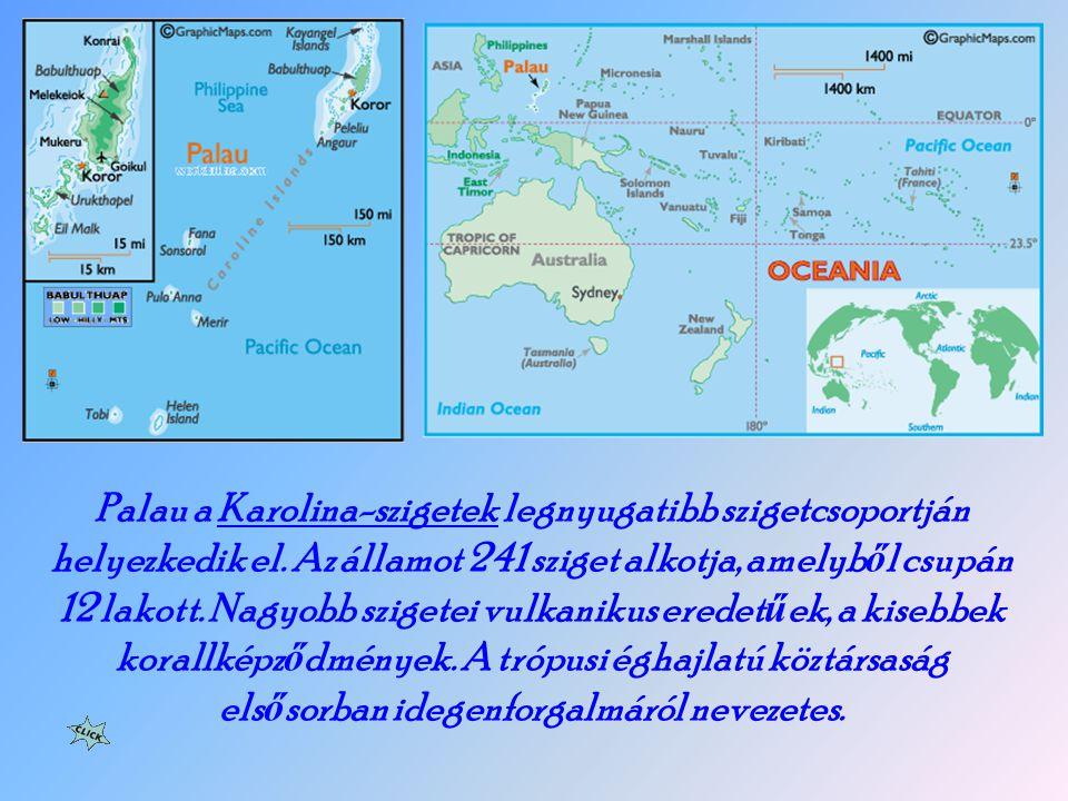Palau a Karolina-szigetek legnyugatibb szigetcsoportján helyezkedik el.