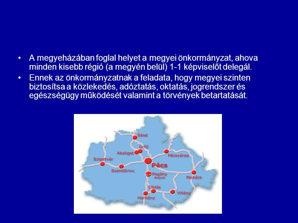 A megyeházában foglal helyet a megyei önkormányzat, ahova minden kisebb régió (a megyén belül) 1-1 képviselőt delegál. Ennek az önkormányzatnak a fela