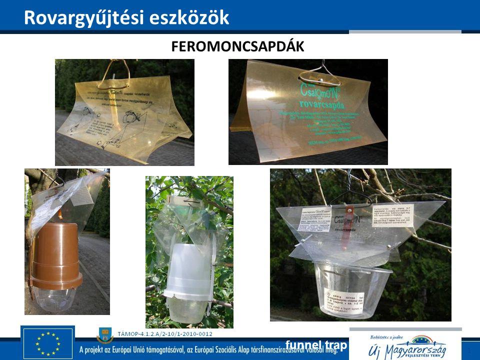 funnel trap triangular trap FEROMONCSAPDÁK Rovargyűjtési eszközök
