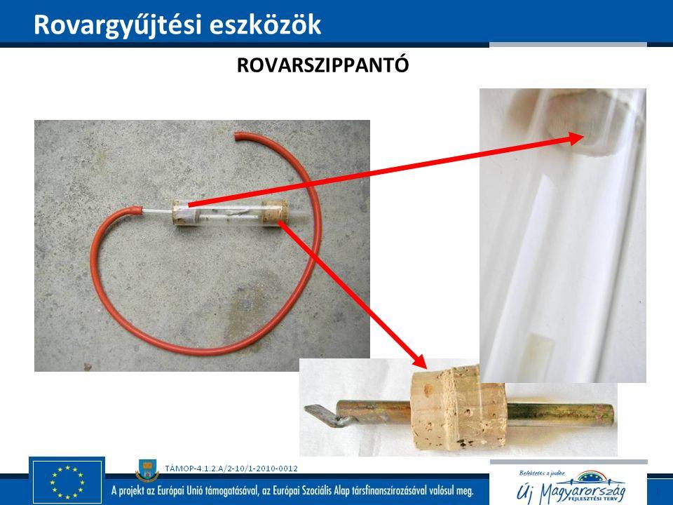 ROVARSZIPPANTÓ Rovargyűjtési eszközök