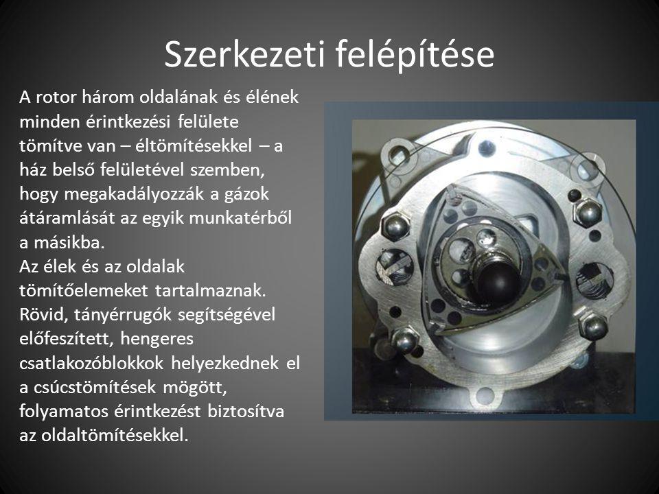 Működési elve A forgódugattyús motor teljesen eltérő módon működik, mint a hagyományos belsőégésű motorok.