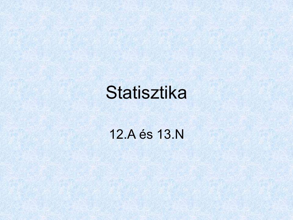 Statisztika 12.A és 13.N