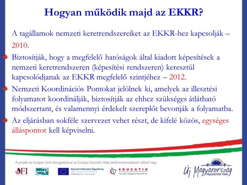 Hogyan működik majd az EKKR. A tagállamok nemzeti keretrendszereiket az EKKR-hez kapcsolják – 2010.