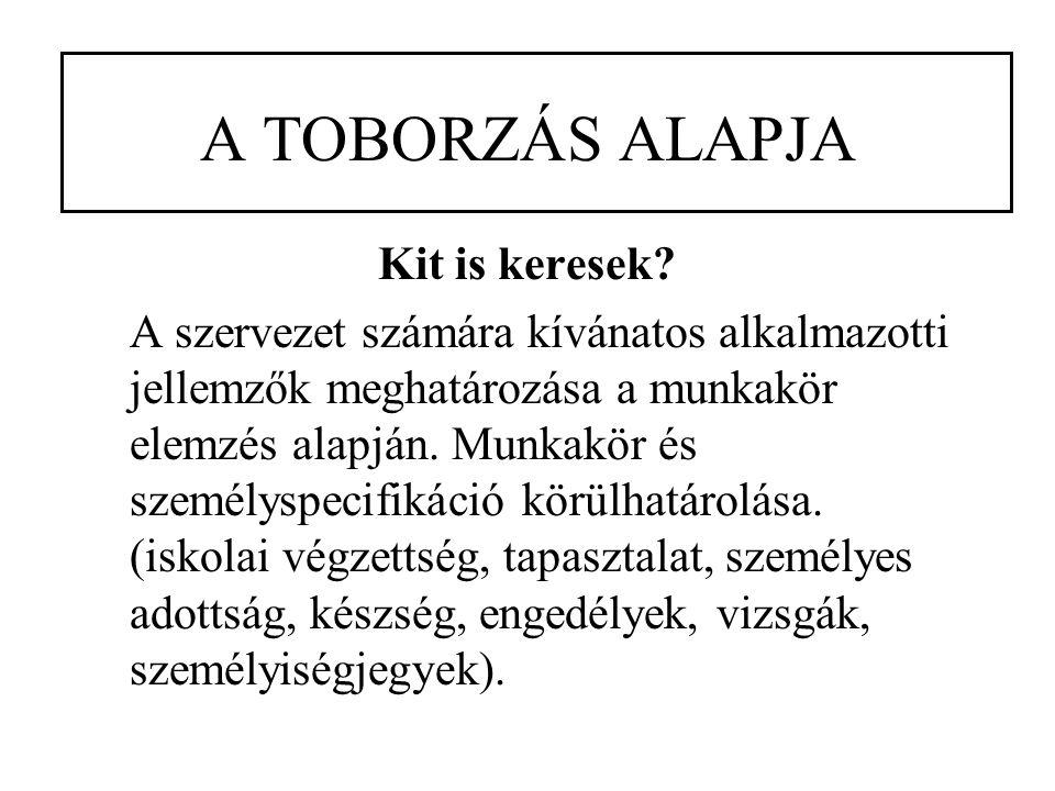 A TOBORZÁS ALAPJA Kit is keresek.
