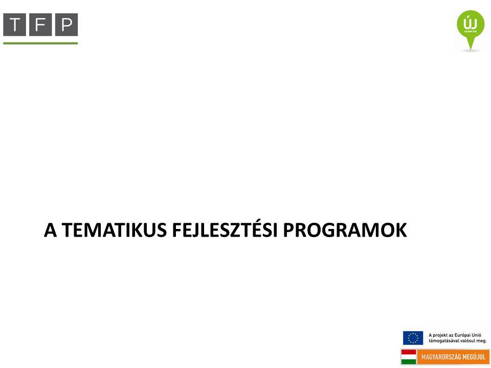 A TEMATIKUS FEJLESZTÉSI PROGRAMOK