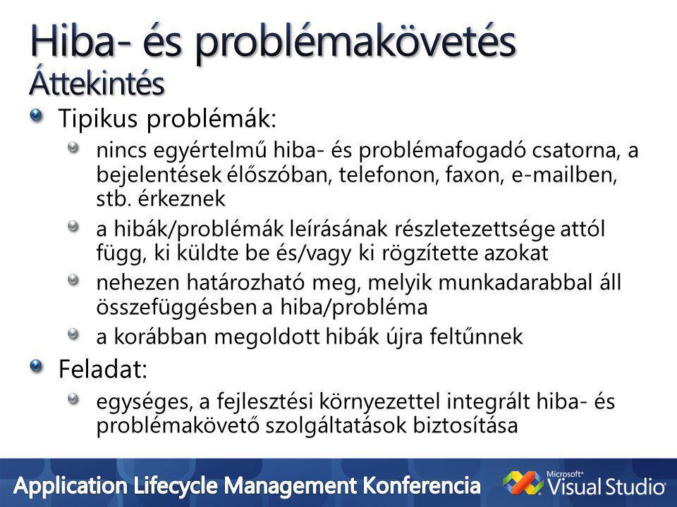 Tipikus problémák: nincs egyértelmű hiba- és problémafogadó csatorna, a bejelentések élőszóban, telefonon, faxon, e-mailben, stb.