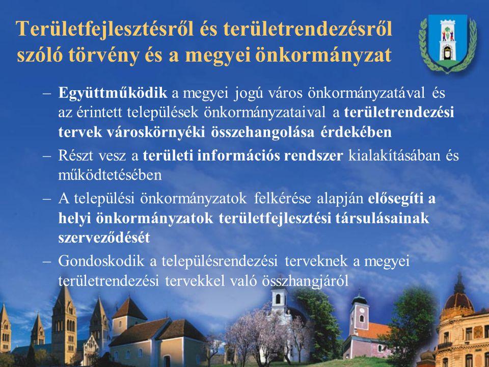 Baranya Megye Területrendezési Terve Az Országos Területrendezési Tervet 2003.