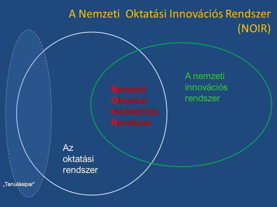 """A Nemzeti Oktatási Innovációs Rendszer (NOIR) Az oktatási rendszer A nemzeti innovációs rendszer Nemzeti Oktatási Innovációs Rendszer """"Tanulásipar"""""""