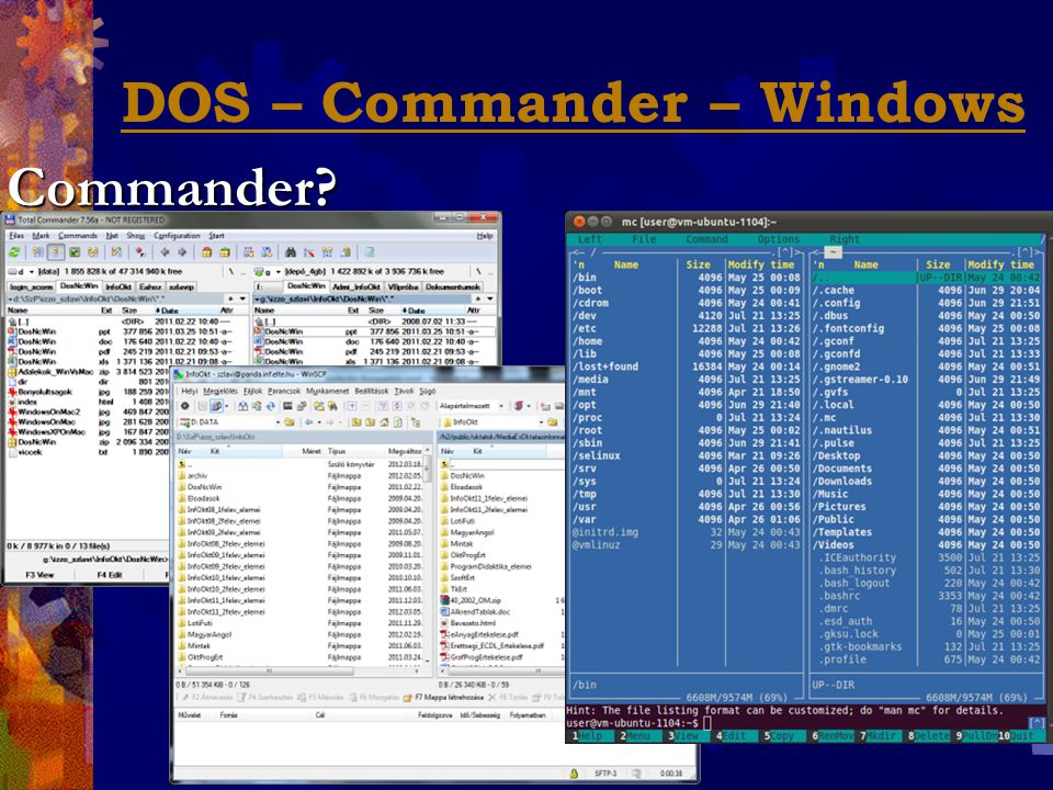 DOS – Commander – WindowsCommander?