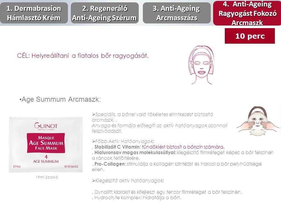 Age Summum Arcmaszk: 19ml Zacskó  Speciális, a bőrrel való tökéletes érintkezést biztosító arcmaszk.. Anyaga és formája elősegíti az aktív hatóanyago