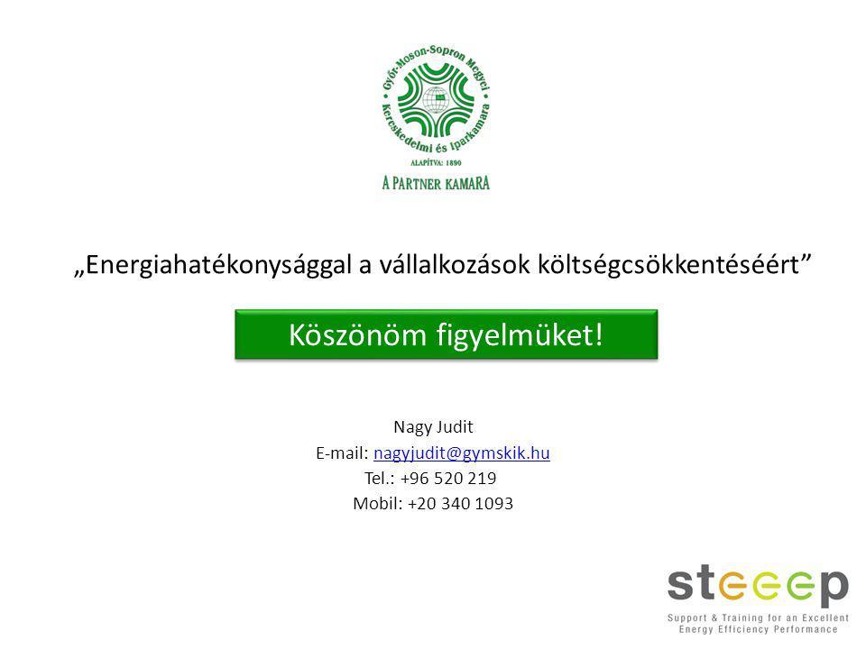 Nagy Judit E-mail: nagyjudit@gymskik.hunagyjudit@gymskik.hu Tel.: +96 520 219 Mobil: +20 340 1093 Köszönöm figyelmüket.