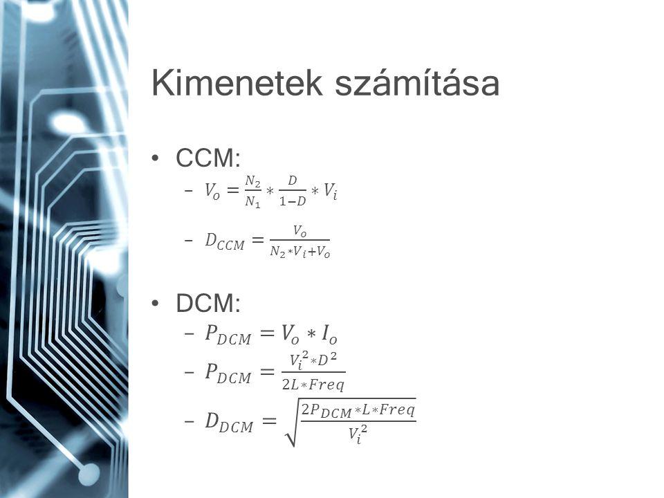 Flyback szabályzási vonatkozás Az energia csak a MOSFET kikapcsolásakor kerül a terhelésre A beavatkozás a bekapcsolási időre vonatkozik, melynek hatása így csak késve jelenik meg RHPZ (jobb félsík zérus) kisjelű analízis viselkedés A fázis csökken, az erősítés növekszik A RHPZ frekvencia miatt általános szabály, hogy: –Minimum bemenő feszültségre –Maximum terhelésre tervezünk.