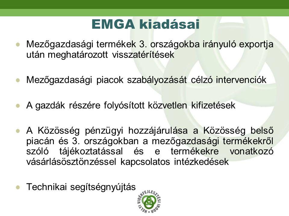 EMGA kiadásai Mezőgazdasági termékek 3.