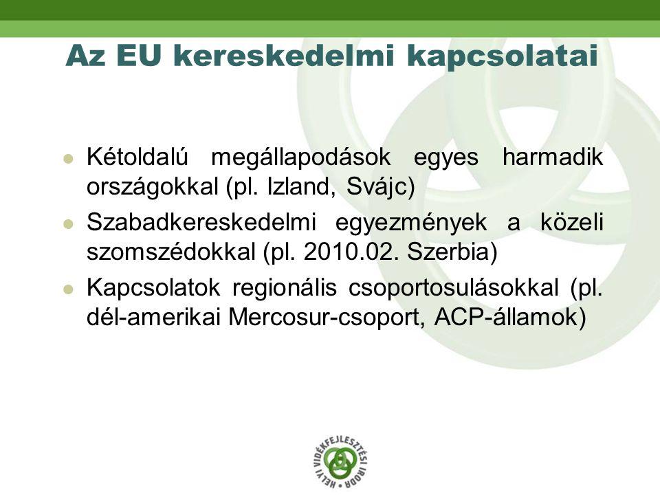 Az EU kereskedelmi kapcsolatai Kétoldalú megállapodások egyes harmadik országokkal (pl.