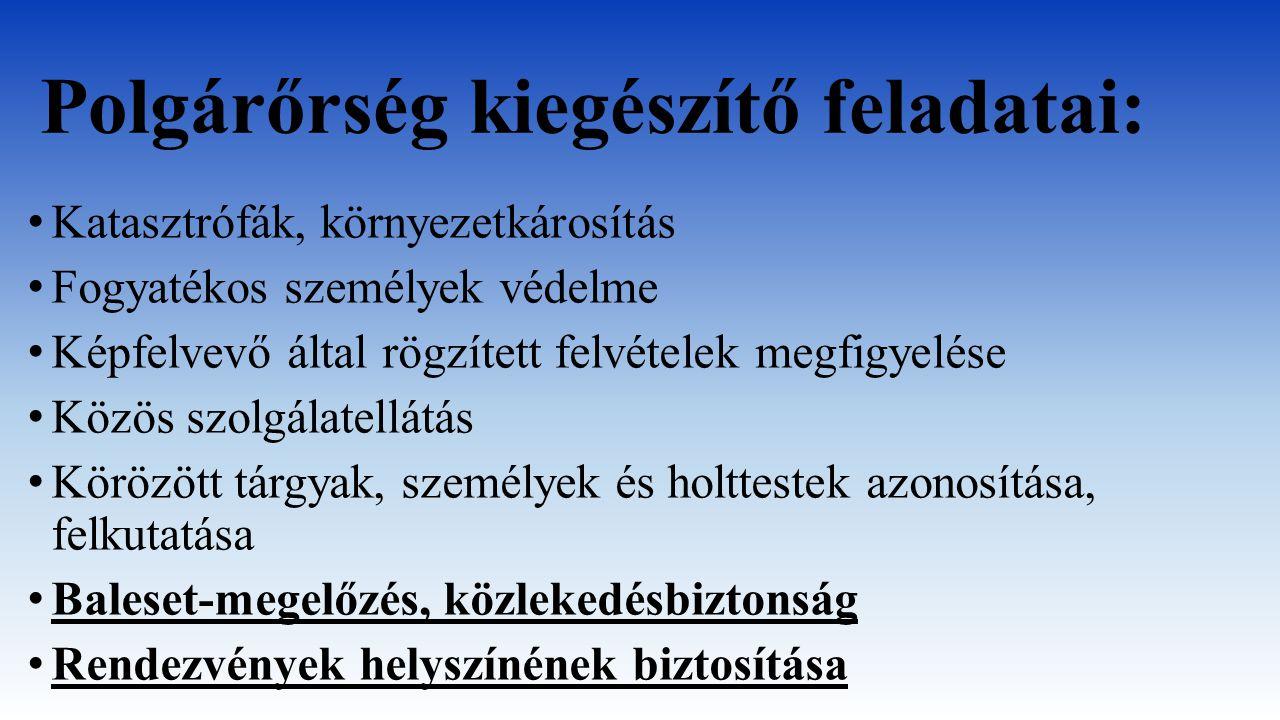 2011.évi CLXV. tv. a polgárőrségről és a polgárőri tevékenység szabályairól 20.