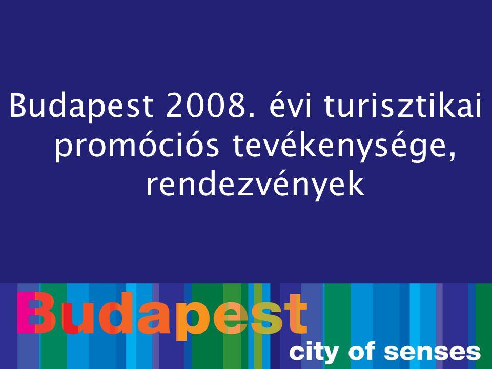 Budapest 2008. évi turisztikai promóciós tevékenysége, rendezvények
