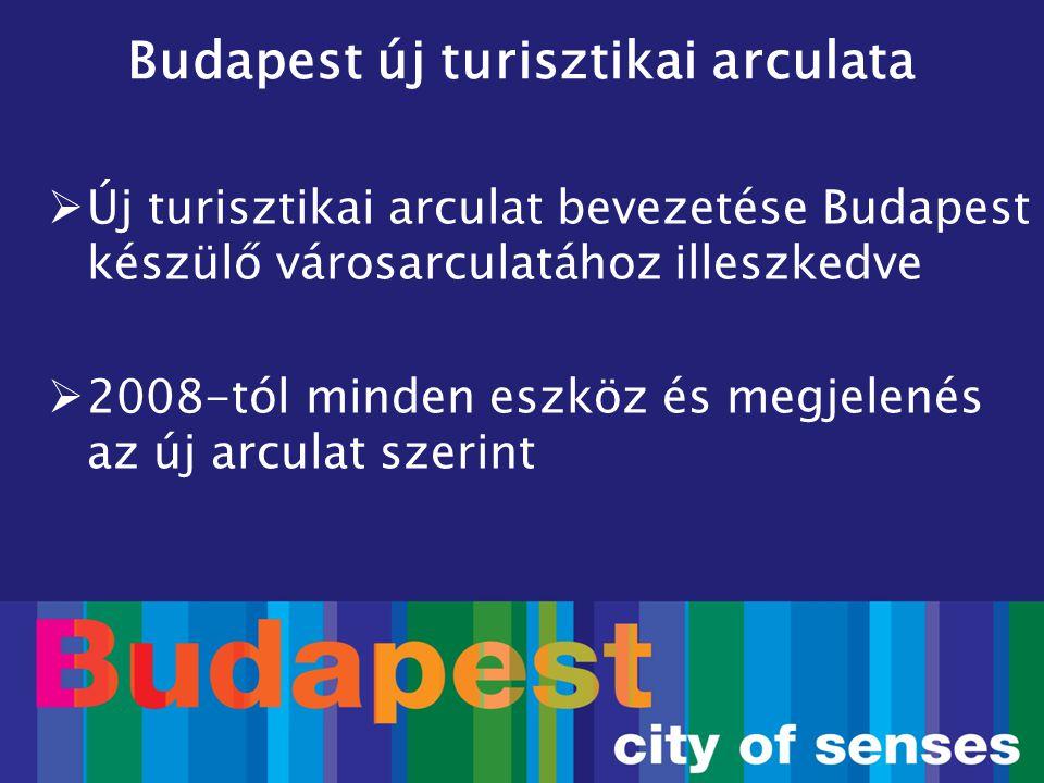 Budapest új turisztikai arculata  Új turisztikai arculat bevezetése Budapest készülő városarculatához illeszkedve  2008-tól minden eszköz és megjele