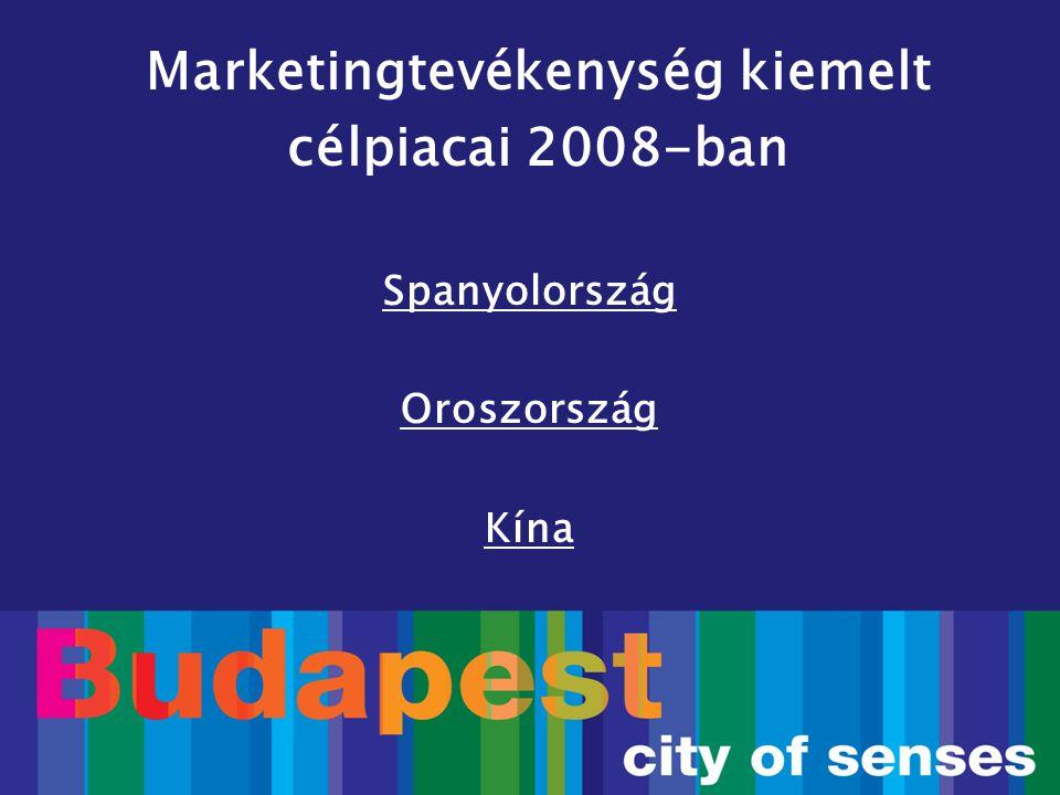 Spanyolország Oroszország Kína Marketingtevékenység kiemelt célpiacai 2008-ban