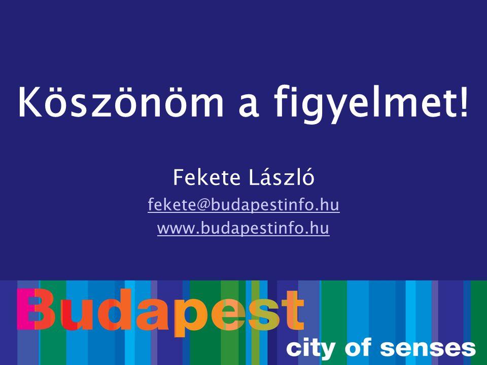 Köszönöm a figyelmet! Fekete László fekete@budapestinfo.hu www.budapestinfo.hu